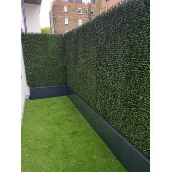2 Ft H X 2 Ft W Artificial Hedge Plant Privacy Fencing Fence Design Artificial Hedges Backyard