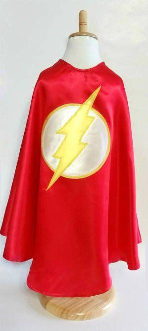 Long Red Super Hero Cape for Children