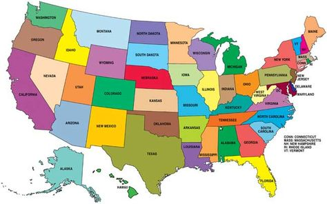Carte Des Etats Unis Usa Carte Etats Unis Carte Routiere