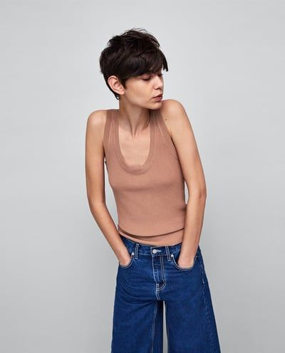 04a7d25609 Minimal collection knit top   Tops   Tops, Knitted tank top, Fashion