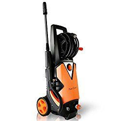 Serenelife Electric Pressure Washer Powerful Heavy Duty 2000psi Manual Adjustable High Low Cold Water Sprayer System Rolling Wheels Power Wash Spray Clean Cleaning Concrete Driveway Clean Concrete Electric Pressure Washer