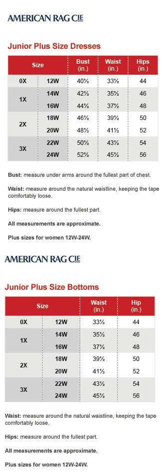 Inc international concepts plus size charts via macys brand name pinterest chart also rh