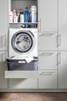 Unterbringung Der Waschmaschine Im Hauswirtschaftsraum Bild 7 Hauswirtschaftsraum Waschmaschine Hauswirtschaftsraum Ideen