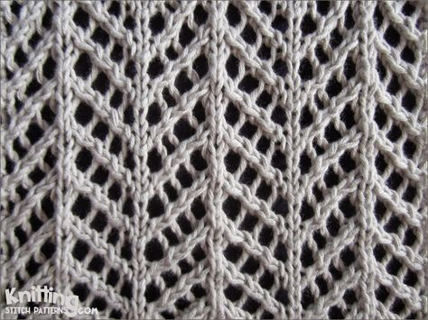 Pretty Arrowhead Lace pattern fits for many cool projects!
