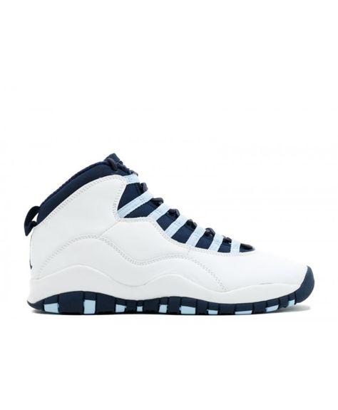 3effc9fad8a3 Air Jordan 10 Retro White Obsidian Ice Blue V Red 310805 141
