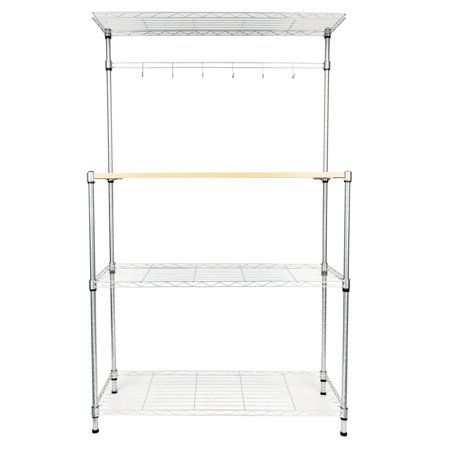 Home In 2020 Microwave Storage Microwave Stand Bakers Rack
