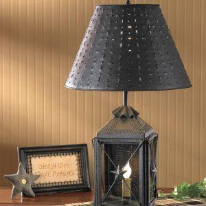 Country Lighting Lamp Shades Wheat Shade 14 Lantern Table Lamp Lantern Lamp Primitive Table Lamp