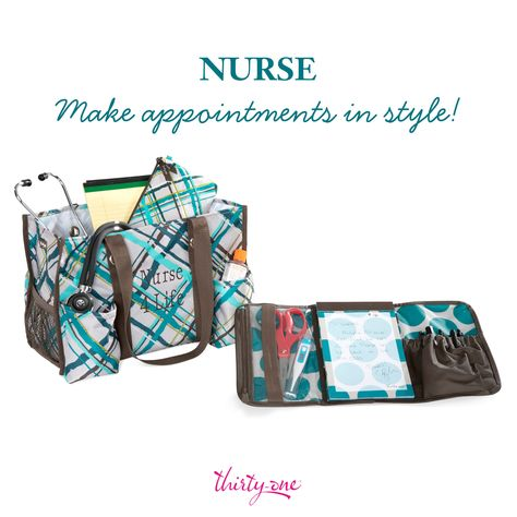 The Organizing Utility Tote helps to keep everything together before and after a long shift.