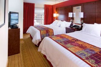 Double Suite Downtown Norfolk Hotel Residence Inn Marriott