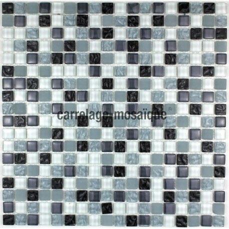 Echantillon Verre Opus Noir Carrelage Mosaique Verre En