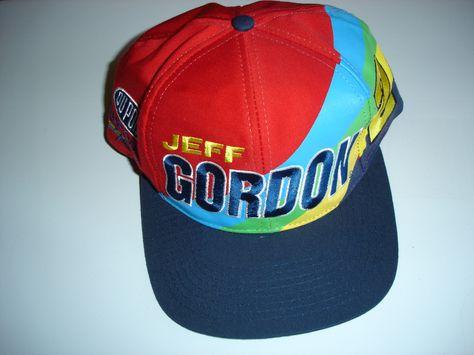 Trucker Hats Caps Men s Hat Jeff Gordon 24 Snapback One Size Nascar Racing  Driver Daytona 500 by CastlesCornerShop on Etsy 564c43a1d5e