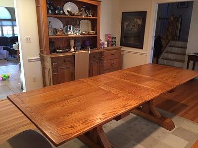 Dining Room Table Dual Trestle And Extension Slides Part 1