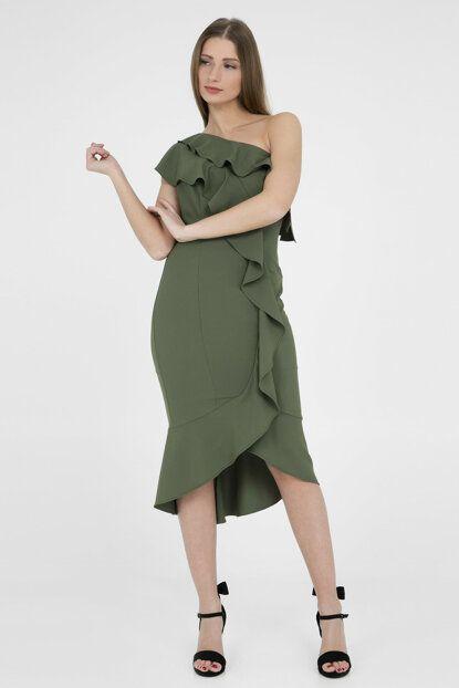 Kadin Haki Abiye Elbise 4784167 Trend Trendyol Trendler Elbise Mankenler