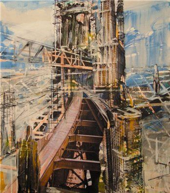 Valery Koshlyakov - I really like this picture because it is of bridges and things that connect things together and different things have been merged into the one picture.