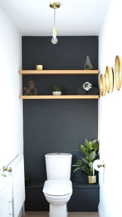 Daring Black Accent Wall Concepts Small Space Interior Design Small Apartment Bathroom Bathroom Design