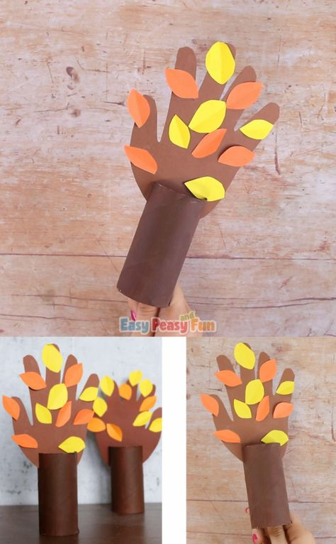This fall handprint tree is a wonderful fall craft that can be made every year.