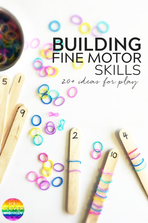 Simple Hands-On Activities That Help Build Fine Motor Skills - with fine motor skills going missing at preschool, try some of these hands-on invitations to help strengthen fine motor skills! Use these ideas in your preschool classroom! Motor Skills Activities, Montessori Activities, Gross Motor Skills, Hands On Activities, Fine Motor Preschool Activities, Fine Motor Activity, Counting Activities, Pre School Activities, Montessori Elementary