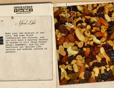 Mixed nuts are a health, protein-packed treat. Visit our recipe e-books for more ideas.