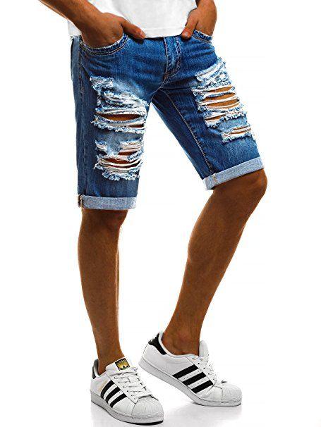 BOLF Herren Jeans Shorts Kurzhose Jeanshose Denim Sporthose Casual Short Hose 7G7