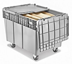 3 drawer file cabinet mobile container storage tote with wheels in stock uline