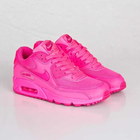 Nike Air Max 90 2007 (GS)   Nike air max pink, Pink nike shoes