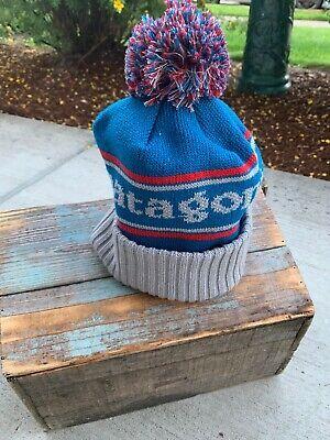 d1f3ba47 PATAGONIA POWDER TOWN BEANIE STOCKING HAT ONE SIZE Blue Grey New   eBay