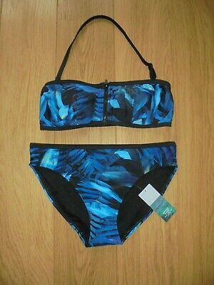 Zoggs Womens Coogee Sonicback Chlorine Resistant Black Swimming Costume *SALE*