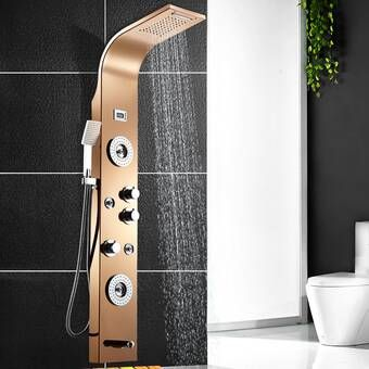 Thermostatic Multi Function 63 25 Shower Tower Panel Massage