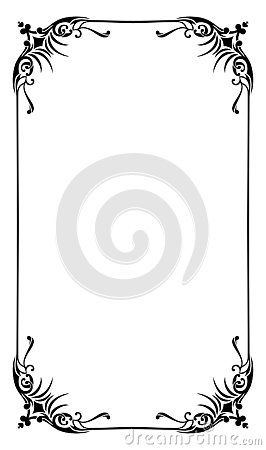 Blank Template Of Menu Card Background With Frame A Cute And Fancy Page Frame For Restaurant Restaurant Menu Card Frame Template Menu Cards