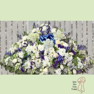 True Blue Casket Flower Delivery Casket Sprays Casket Flowers