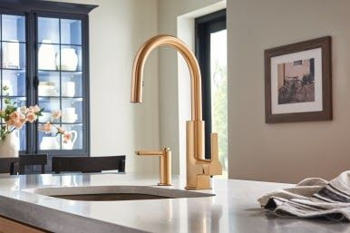 Brushed Gold Kitchen Faucets