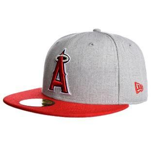 size 40 59f86 58268 Los Angeles Angels of Anaheim New Era Heather Graphite 59Fifty Fitted Hat  (Gray)