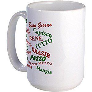 ITALY 11OZ COFFEE MUG TEA CUP COUNTRY ROME MILAN NAPLES TURIN BEAUTIFUL ITALIAN!