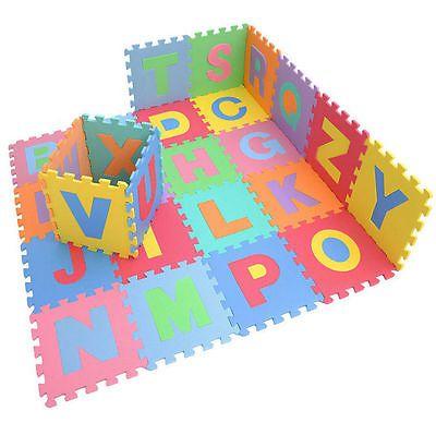 26pc Large Alphabet Play Mat Baby Kids Soft Eva Foam Jigsaw Puzzle Floor Mat Set Baby Play Mat Kids Playroom Baby Floor Mat Foam