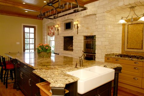 All marble everything in Rick Perry's rental mansion.