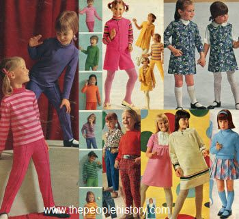 fb89764be47 1967 Girls ClothesBold flower prints and brightly contrasting stripes or  plaids were the focus of girls fashion in 1967. Slim line jumpers and  dresses were ...