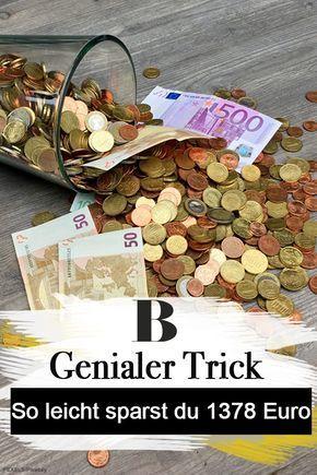 So Einfach Sparst Du In Einem Jahr 1378 Euro Einfach Sparen Tipps Zum Geld Sparen Spar Challenge