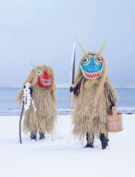 Namahage (Oga, préfecture d'Akita, nord-ouest de l'île Honshu).