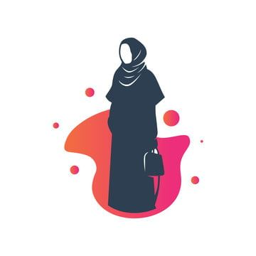 Stock Vector Hijab Logo Vector Human Clipart Logo Icons Style Png And Vector With Transparent Background For Free Download Hijab Logo Fashion Logo Vector Logo
