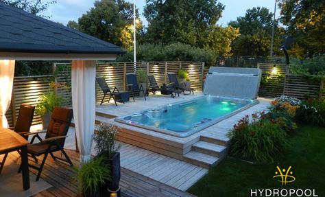 13 best Swim Spa Installs images on Pinterest Bubble baths, Hot - whirlpool sichtschutz
