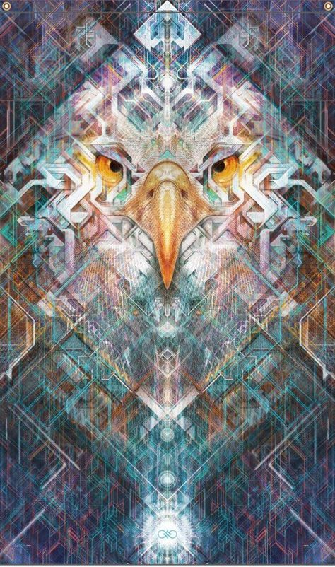 This is a 5x3 polyester sublimation printed tapestry of the Far Seer. This eagle soars above all, unrestrained and focused, holding a clear vision of all potentials. With a deeper understanding of time and the art of seizing opportunity, the eagle encourages you to step into your