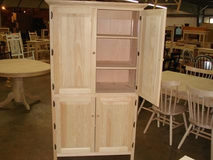 Best Lam Brothers Unfinished Furniture Wood Pantry Cabinet 400 x 300