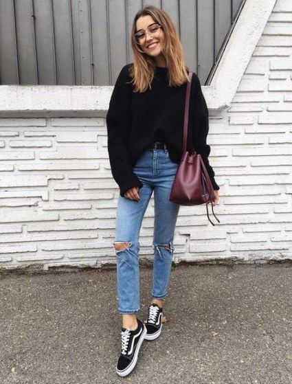 How to wear vans shoes outfits sweaters