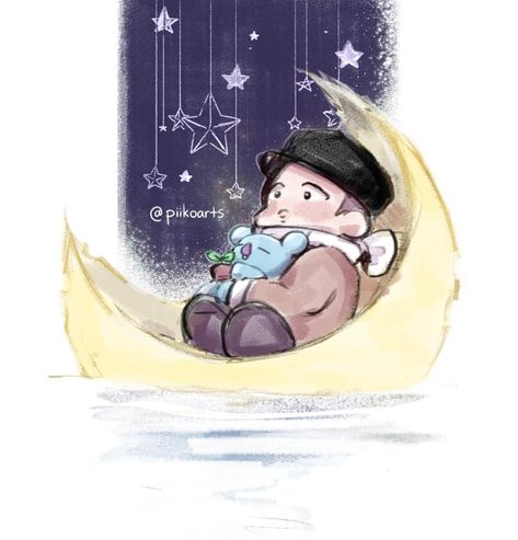 [@piikoarts ] #MoonchildDay  #OurMoonchildRM  #HappyBirthdayNamjoon #btsfanart