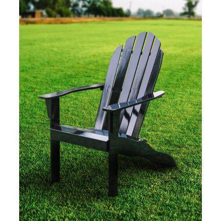 Mainstays Black Adirondack Chair Adirondack Chair Wood Adirondack Chairs Outdoor Wood