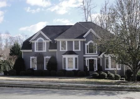 Gray Stucco Exterior House Paint Colors Dark & Dark Gray Stucco House | Shapeyourminds.com