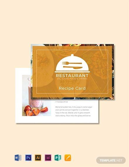Free Recipe Card Template Recipe Cards Template Recipe Cards Free Food