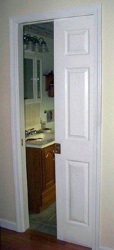 Pocket Door, skinny bathroom door idea