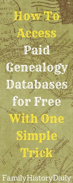 Sites Like Ancestry Are Often Free Through Your Library | Family