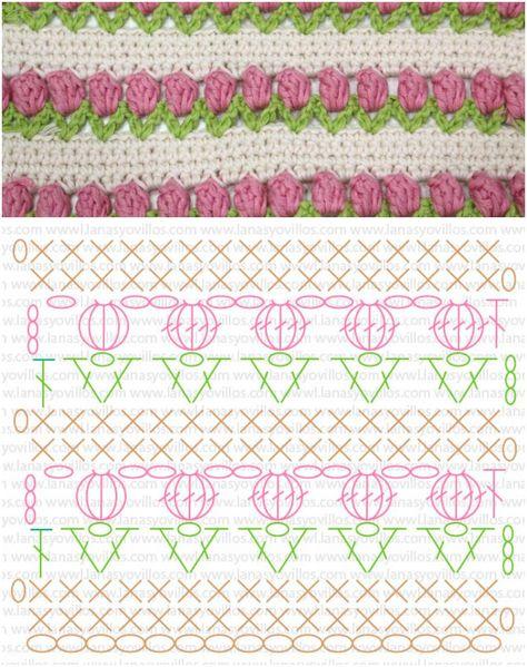 Crochet Tulip Stitch with Free Pattern
